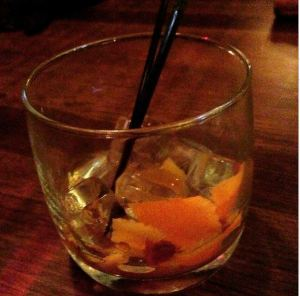 My new favorite drink of choice. I may or may not have been influenced by new obsession with MadMen. #OldFashioned