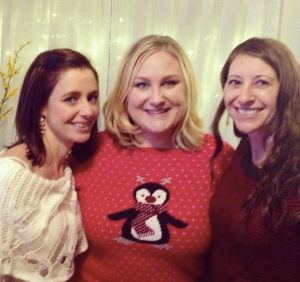 Holiday party with two of my favorite people.