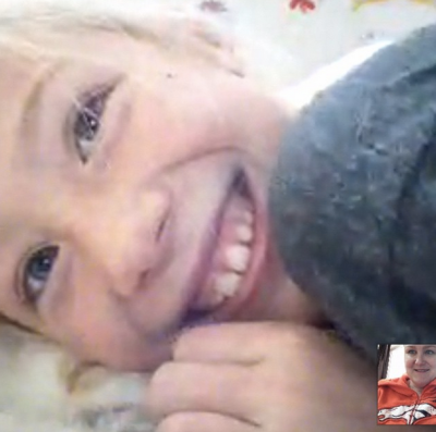 Video chat with my lovely niece.