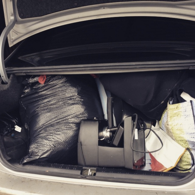 Deeming a success the first phase of Declutter 2015 and I have a trunk + backseat full of items headed for Goodwill to prove it.