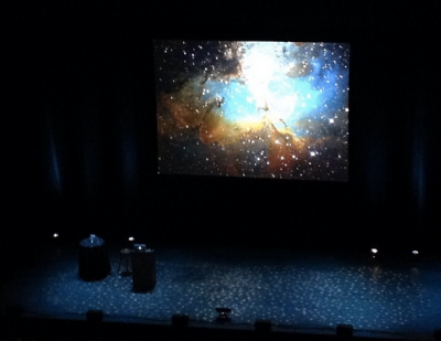 Waiting patiently for Neil deGrasse Tyson to take the stage.