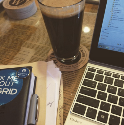 Spent Sunday working from my favorite neighborhood spot with a  nice porter (or two) to accompany me.