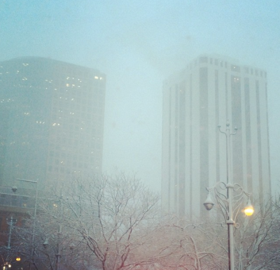 Snapped some pics of snowy Denver while attempting to make any sort of progress in the brutal traffic.