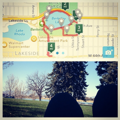 It was slow-going but I hit my goal with an added bonus of minimal knee pain. Yay! Took a stretch break at mile three and spent some extra time enjoying the scenery.