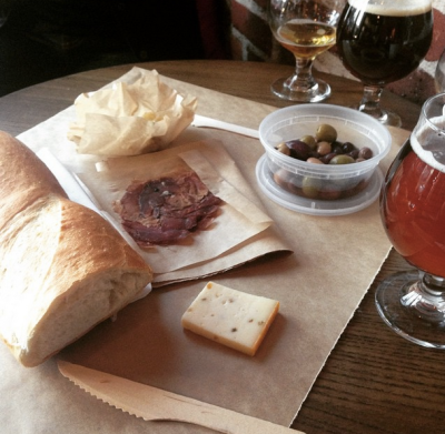 charcuterie dinner + yummy beers