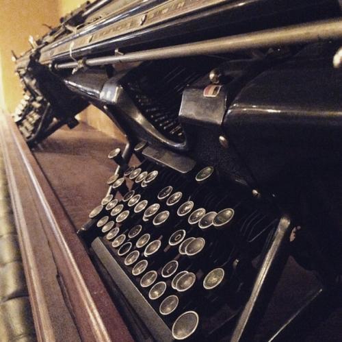 Denver Press Club decor. I <3 typewriters