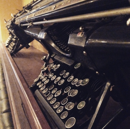 Denver Press Club decor. I <3 typewriters